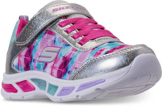 Skechers Little Girls' S Lights: Litebeams - Dance N Glow Light Up Running Sneakers from Finish Line