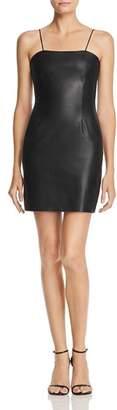Aqua LUXE Capsule Faux Leather Mini Dress - 100% Exclusive