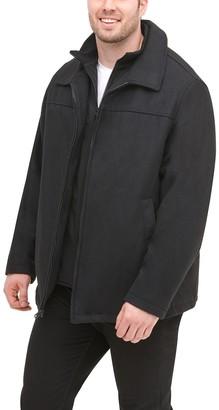 Dockers Big & Tall Logan Wool-Blend Open-Bottom Jacket with Bib