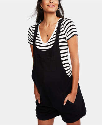 A Pea in the Pod Maternity Short Overalls