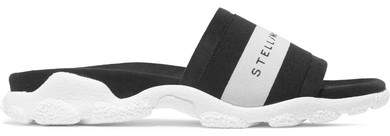 Stella McCartney - Faux Suede And Rubber Slides - Black