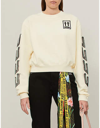 Off-White Stripes cotton-jersey sweatshirt