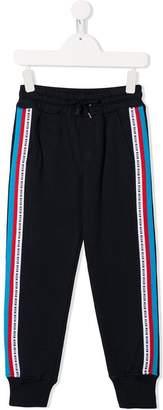 MSGM Kids side stripe detail track trousers