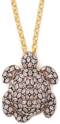 Begum Khan - Tartaruga Crystal Embellished Turtle Necklace - Womens - Crystal