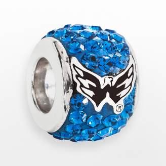 Swarovski Logoart LogoArt Washington Capitals Sterling Silver Crystal Logo Bead - Made with Crystals