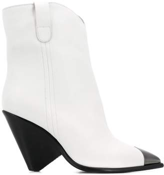 The Seller metallic toe ankle boots