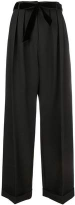 Valentino belted tailored palazzo pants
