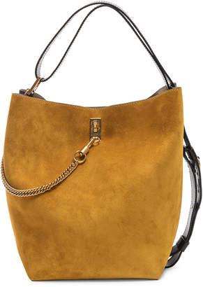 Givenchy Medium Suede & Leather Bicolor GV Bucket Bag