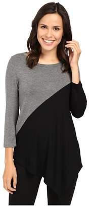 Karen Kane Color Block Angle Top Women's Clothing