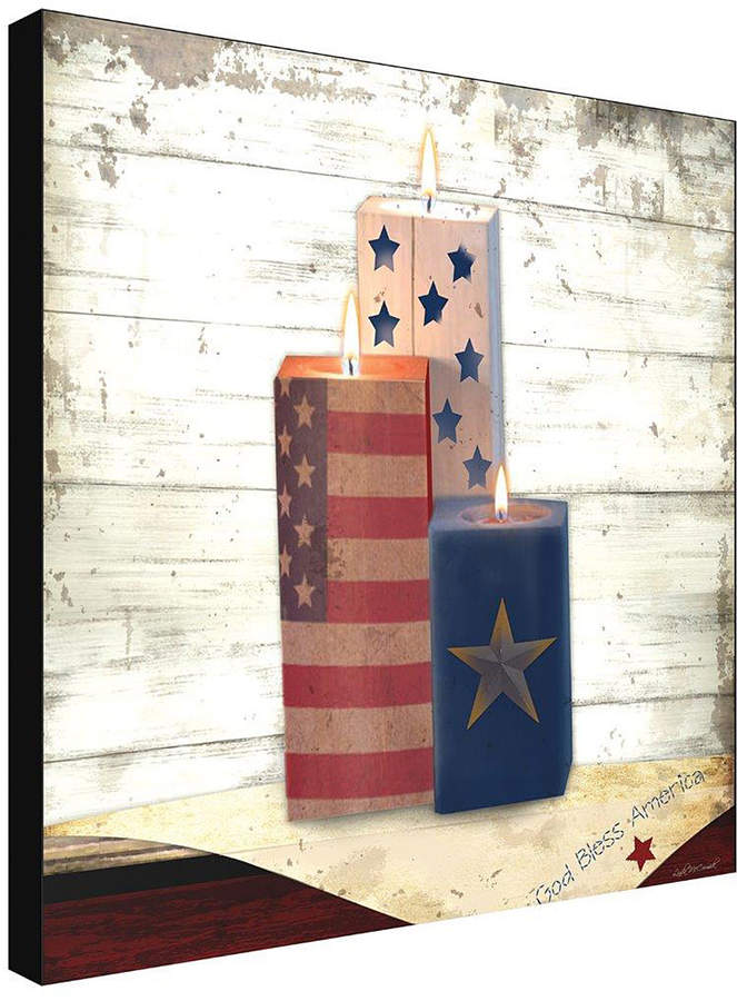 Stars & Stripes Candles Canvas