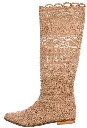 Le Silla Embroidered Knee-High Boots