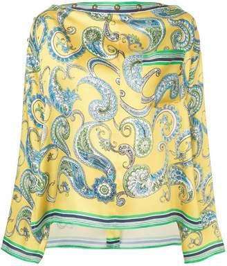 Philosophy di Lorenzo Serafini baroque print blouse