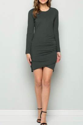 Hunter Wasabi + Mint Side-Ruched Dress
