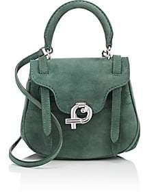 Fontana Milano 1915 Women's Mimosa Mini Suede Crossbody Bag - Green