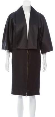 Stella McCartney Satin Knee-Length Coat