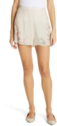 Love Sam Jardin Embroidered Shorts