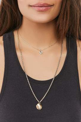 Urban Outfitters Jade Double-Chain Layering Necklace