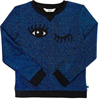 Eleven Paris ELEVEN PARIS WINKING-EYES FRENCH TERRY TOP $108 thestylecure.com