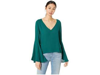 BB Dakota Talk To The Sleeve Rayon Crepe Bell Sleeve Top