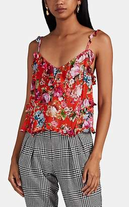Icons Objects of Devotion Women's Teddy Ruffled Floral Camisole - Red