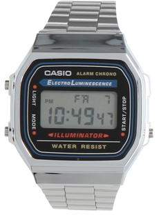 Casio Electro Luminescent Silver Watch