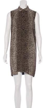 Saint Laurent Cheetah Print Dress