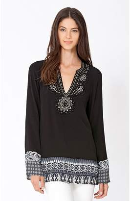 Hale Bob Gracie Beaded Tunic