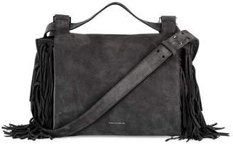 Elena Ghisellini Foxy Grey Suede Cross-body Bag