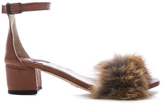 Dhara Brother Vellies Tufted Fox Fur Sandals