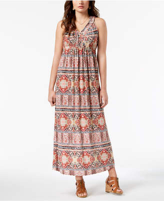 Style&Co. Style & Co Printed Maxi Dress, Created for Macy's