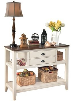 Signature Design by Ashley Whitesburg Dining Room Server - Casual Style - Brown/Cottage White