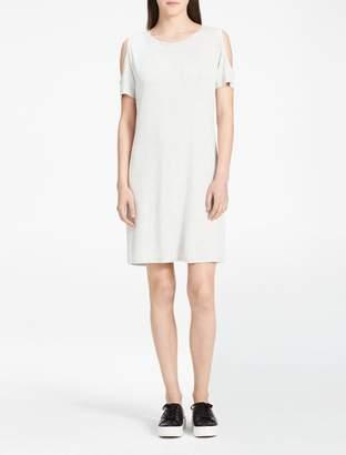 Calvin Klein cold-shoulder short sleeve dress