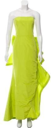 Oscar de la Renta Gathered Silk Gown w/ Tags
