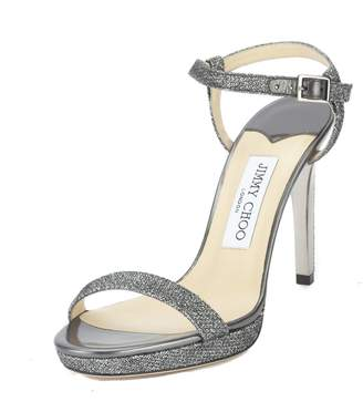 Jimmy Choo Glitter Claudette Platform Sandal, Size 38.5 (New with Tags)