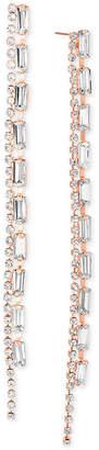 Steve Madden Crystal Double-Row Linear Drop Earrings