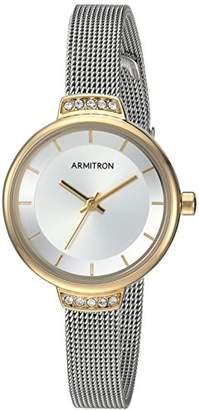 Swarovski Armitron Women's 75/5476SVTT Crystal Accented Two-Tone Mesh Bracelet Watch