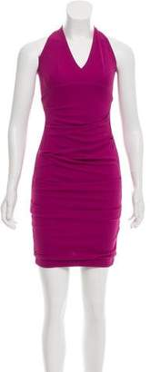 Yigal Azrouel Ruched Halter Dress