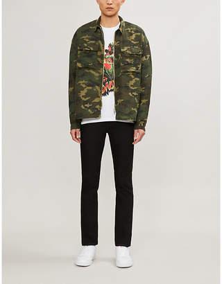 The Kooples Oversized camouflage-print denim shirt