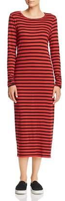 Current/Elliott The Breton Striped Midi T-Shirt Dress