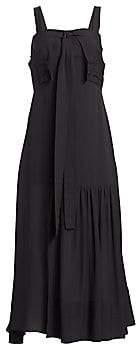 3.1 Phillip Lim Women's Cold Shoulder Silk Tie Gown - Size 0