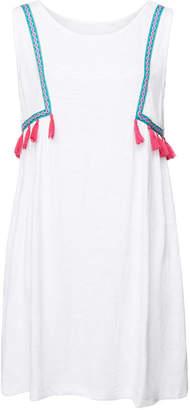 Pitusa Dalia Embroidered Tank Dress with Cotton
