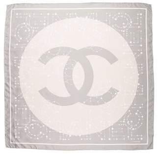 Chanel Camellia Constellation Silk Scarf