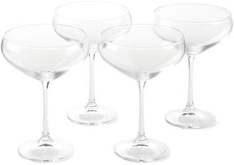 Godinger Shannon By Set of 4 Meridian Champagne Coupe Glasses