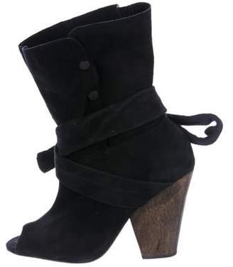 IRO Suede Mid-Calf Boots Black Suede Mid-Calf Boots