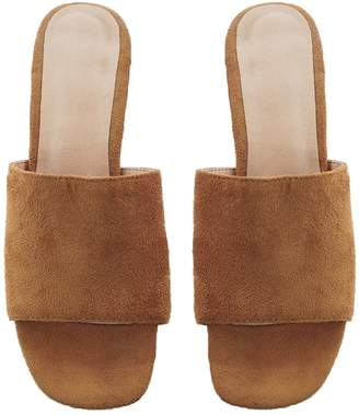 Goodnight Macaroon 'Betsy' Suede Leather Heeled Mules (4 Colors)