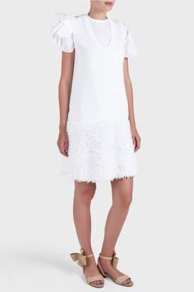 DELPOZO Textured Knit Sweater Dress