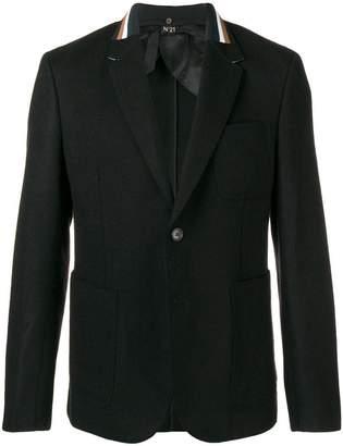 No.21 stripe detail blazer