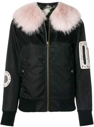 Mr & Mrs Italy trimmed bomber jacket