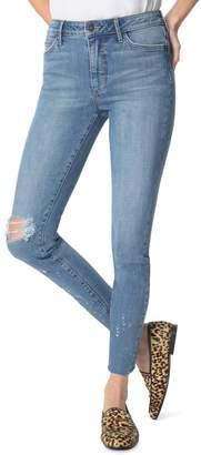 Sam Edelman The Stiletto Ripped High Waist Ankle Skinny Jeans
