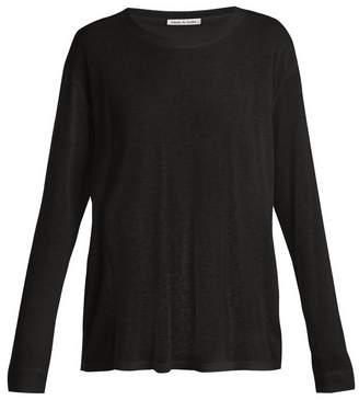 FRANCES DE LOURDES Marlon round-neck cashmere and silk-blend T-shirt